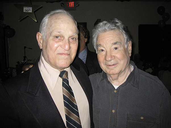 Pete Candoli and Vince DeRosa At Bill Millers 90th Birthday